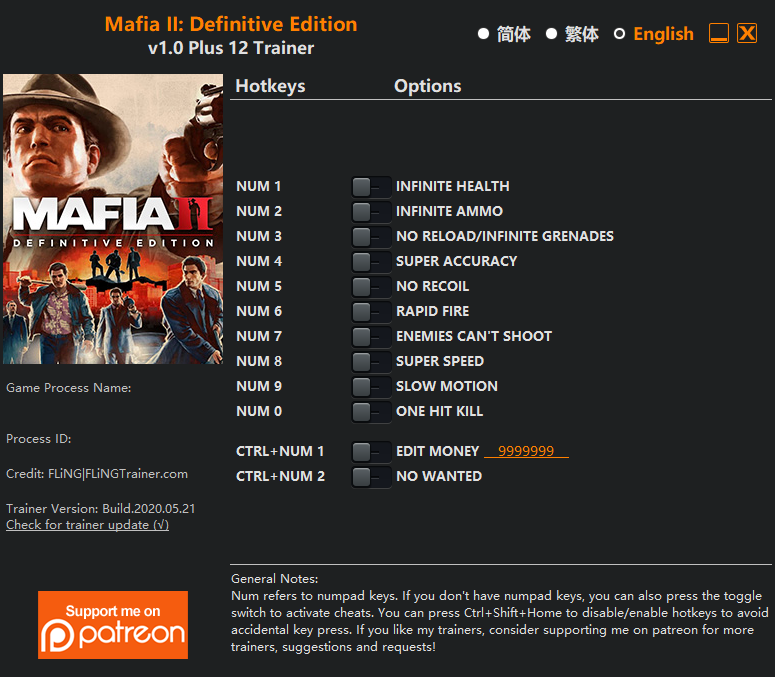 mafia2deftrainer
